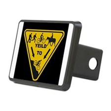 Yield to Shred - Mountain Bike Hitch Cover
