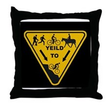 Yield to Shred - Mountain Bike Throw Pillow