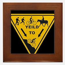 Yield to Shred - Mountain Bike Framed Tile