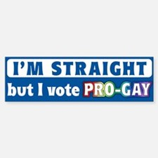 """Vote Pro-Gay"" Bumper Bumper Bumper Sticker"