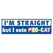 """""""Vote Pro-Gay"""" Bumper Bumper Sticker"""