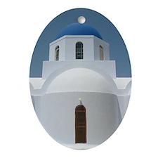 santorini-church Ornament (Oval)