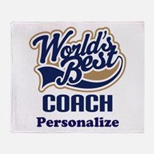 Personalized Coach Throw Blanket