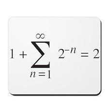summation notation _ 1+1=2 Mousepad