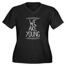 We Are Young Women's Plus Size V-Neck Dark T-Shirt
