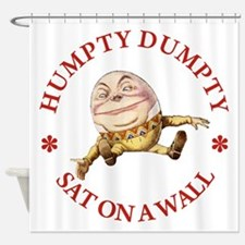Humpty Dumpty Sat On A Wall Shower Curtain