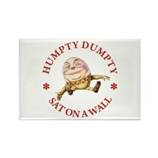 Humpty Dumpty Sat On A Wall Rectangle Magnet (10 p