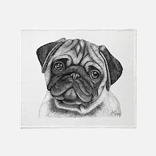 Pug Throw Blanket