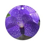 Blue Orchid Ornament (Round)