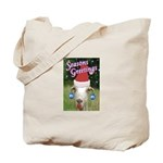 Ruby the Sassy Christmas Goat Tote Bag