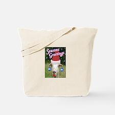 Ruby the Sassy Christmas Goat Tote Bag
