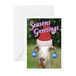 Ruby the Sassy Christmas Goat Greeting Cards (Pk o