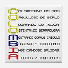 Acróstico Colombia Tile Coaster