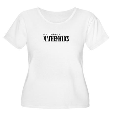 eat. sleep. mathematics Women's Plus Size Scoop Ne