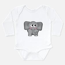 Cool Elephant Long Sleeve Infant Bodysuit