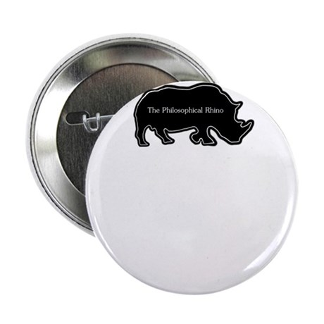 """The philosophical rhino 2.25"""" Button"""