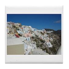 Oia Santorini Tile Coaster