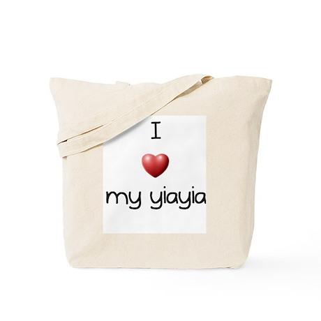 I Love Yia Yia Tote Bag