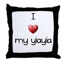 I Love Yia Yia Throw Pillow