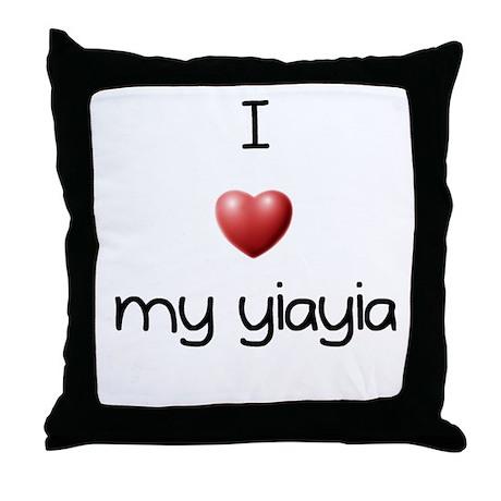 I Love Yia Yia Throw Pillow