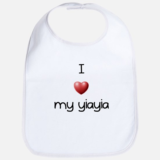 I Love Yia Yia Bib