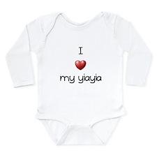 I Love Yia Yia Long Sleeve Infant Bodysuit