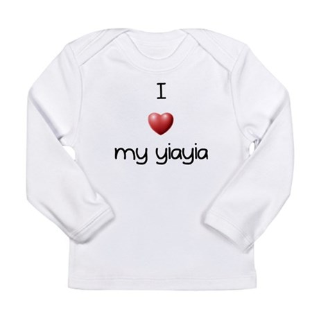 I Love Yia Yia Long Sleeve Infant T-Shirt
