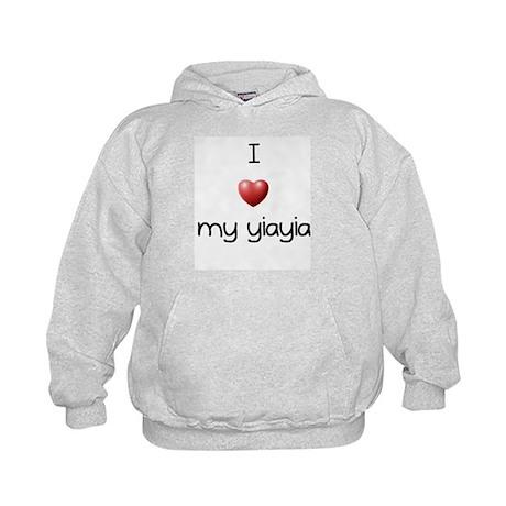 I Love Yia Yia Kids Hoodie