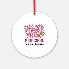 Personalized School Principal Ornament (Round)
