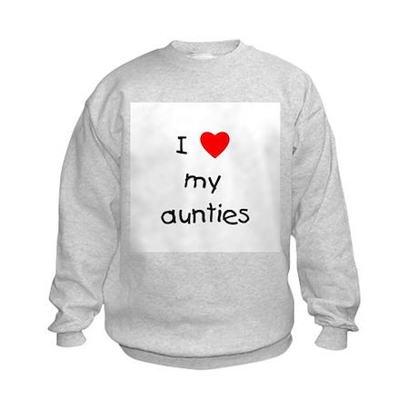 I love my aunties Kids Sweatshirt