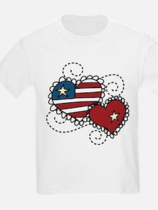 America Hearts T-Shirt