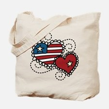 America Hearts Tote Bag