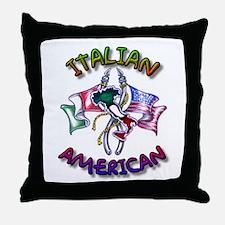 Proud Italian American Throw Pillow