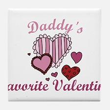 Daddys Favorite Valentine Tile Coaster