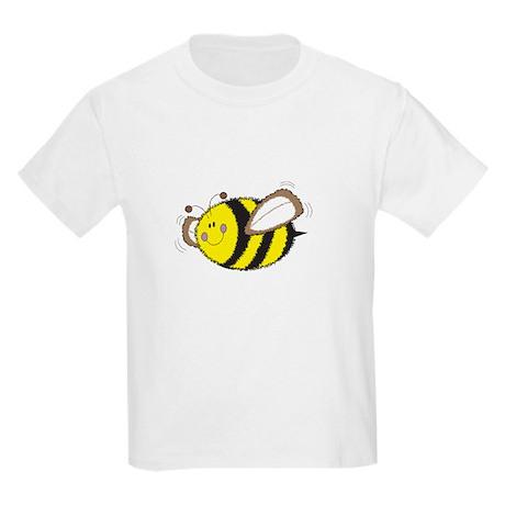 Fuzzy cute yellow Bumble Bee Kids Light T-Shirt