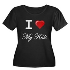 I Love My Kids White Letters T