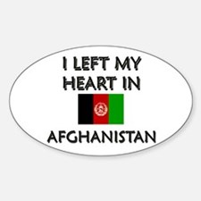 I left my heart in Afghanistan Oval Decal