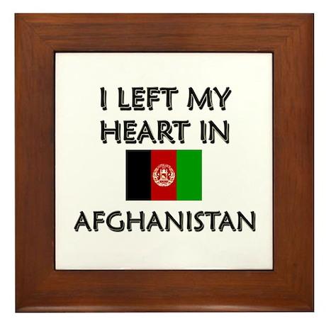 I left my heart in Afghanistan Framed Tile