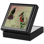Vintage French Hummingbirds Keepsake Box