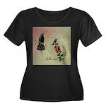 Vintage French Hummingbirds Women's Plus Size Scoo