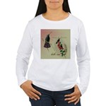 Vintage French Hummingbirds Women's Long Sleeve T-