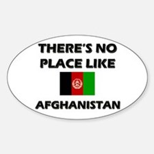 There is no place like Afghanistan Oval Decal