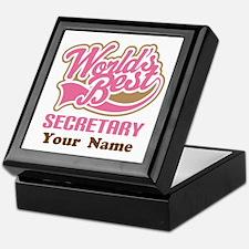 Personalized Secretary Keepsake Box