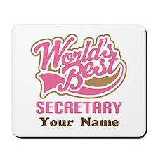 Personalized Secretary Mousepad