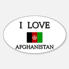 I Love Afghanistan Oval Decal