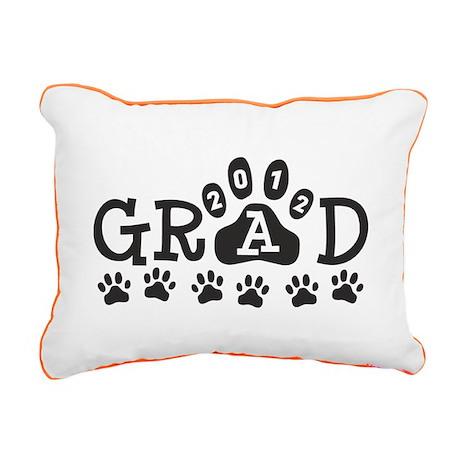 Grad 2012 Paws Rectangular Canvas Pillow
