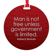 Reagan on Limited Government Ornament