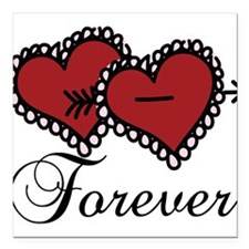 "Forever Square Car Magnet 3"" x 3"""
