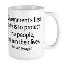 Ronald Reagan Quote Limited Government Mug