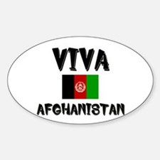 Viva Afghanistan Oval Decal